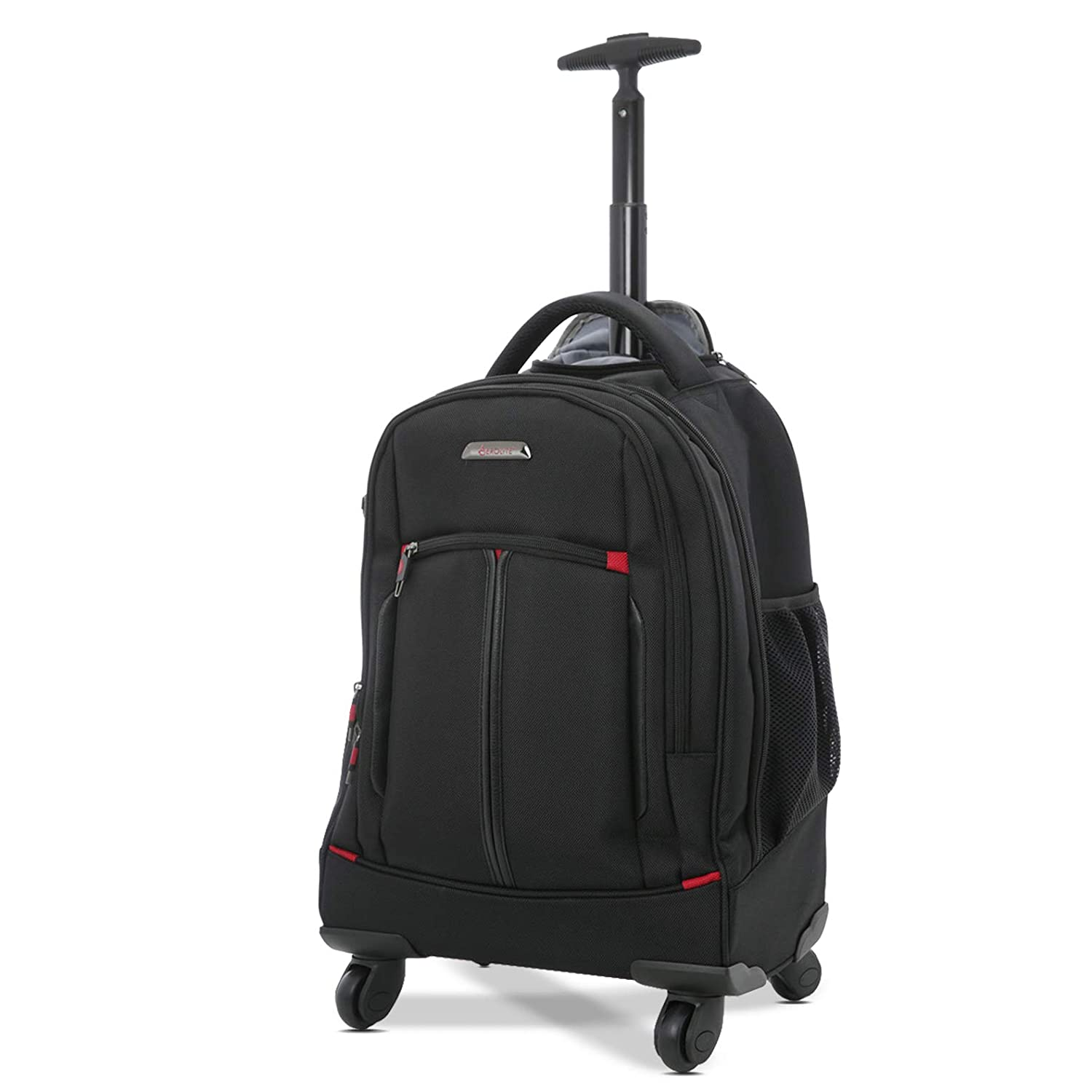 "1cc6e5ab851 Aerolite 21""/55cm 4 Wheel Trolley Backpack Executive Mobile Office Business  Hand Cabin Luggage Laptop Rucksack Shoulder Bag – Approved for Easyjet, ..."