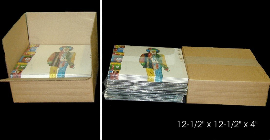 12BC04VD - 12'' LP Record Cardboard Mailers - Kraft Brown - (10 Pack)