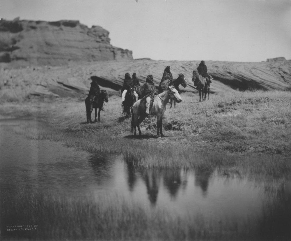 6つNavajo Indians on Horseback、at Oasis Curtis写真 24 x 36 Giclee Print LANT-2966-24x36 B017ZJL9M6  24 x 36 Giclee Print