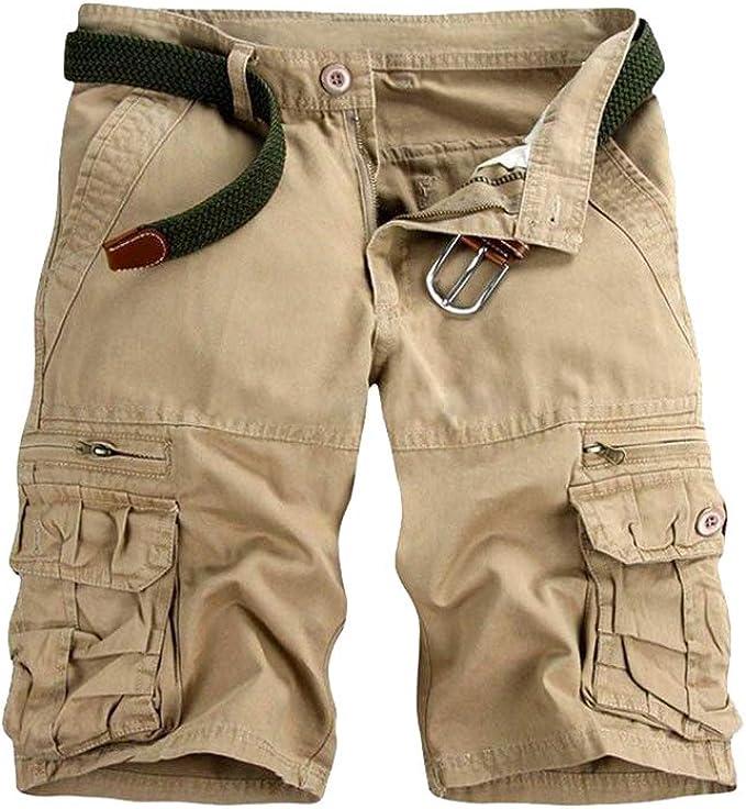 Hombre Verano Color Sólido Chino Pantalones Cortos Suelto ...
