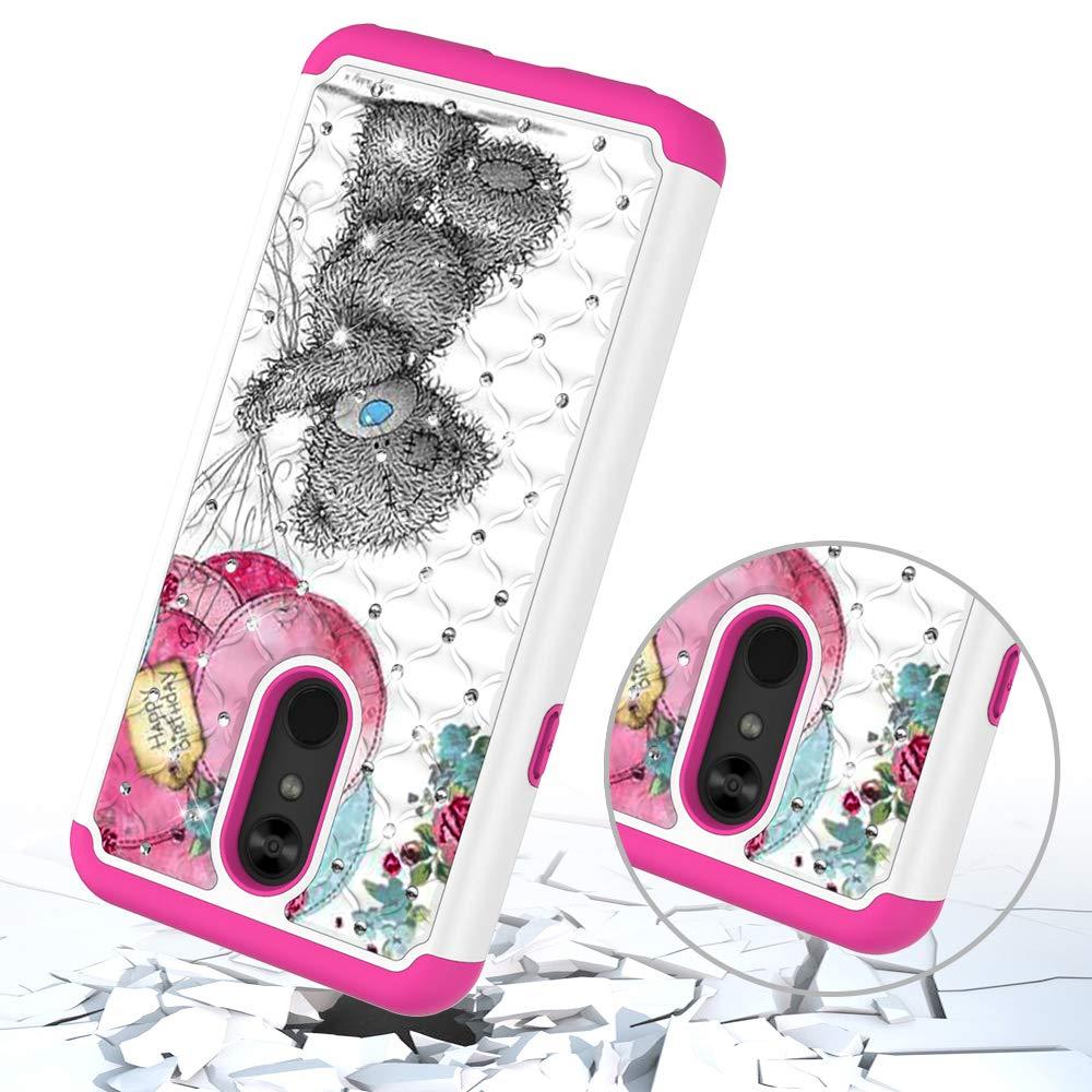 DAMONDY LG Stylo 5 Case,3D Cute Diamond Bling Glitter 2 in 1 Shockproof Hybrid Heavy Duty Shock Dual Layer Armor Defender Cover Phone Case Fit for LG Stylo 5-Blue Butterfly
