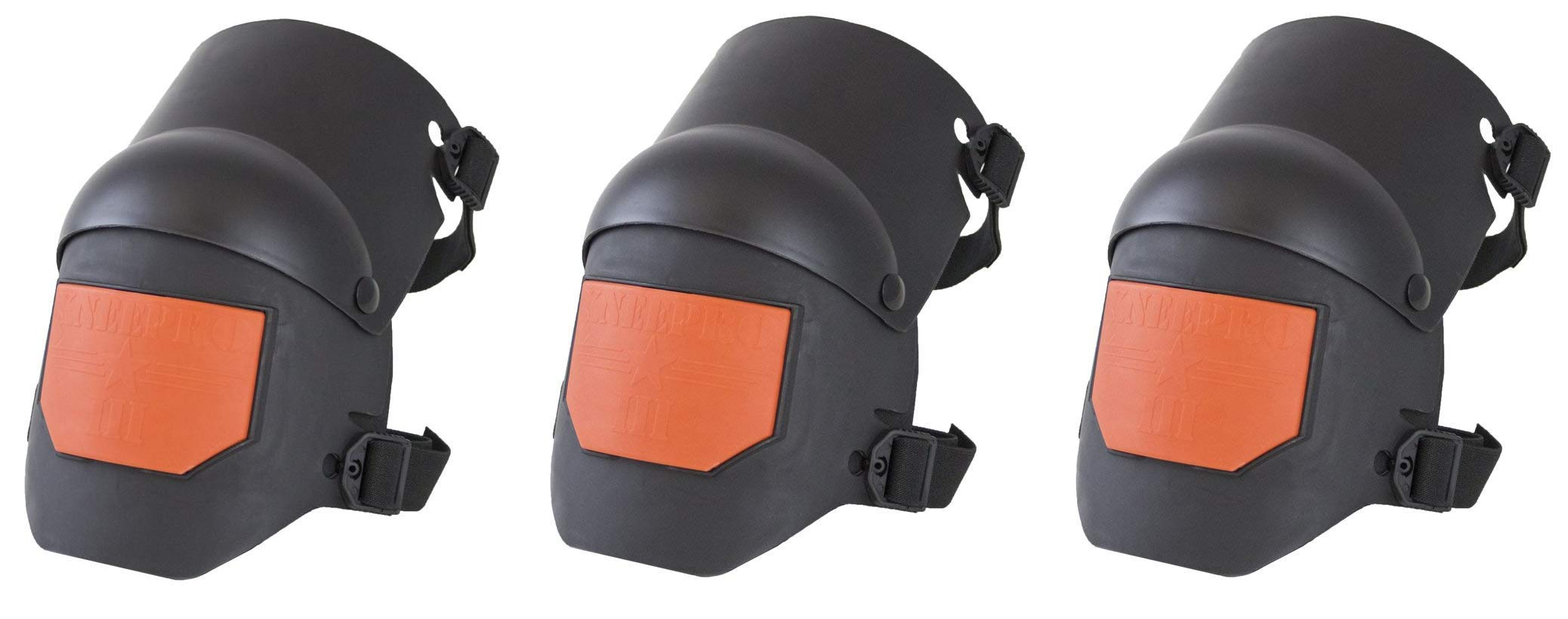 Sellstrom S96211 Knee Pro Hybrid Ultra Flex III Knee Pad Gel Universal, Black/Orange (Тhrее Pаck)