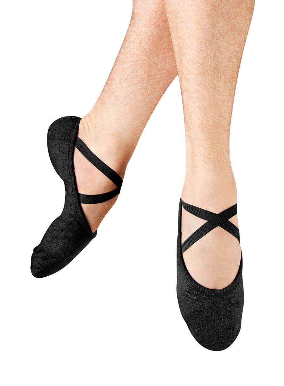 Bloch Danceメンズポンプスプリットソールキャンバスバレエスリッパ/シューズダンス、ブラック、9.5 D US B005BE7IEQ