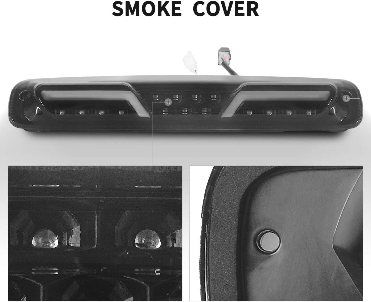 DWVO LED Third Brake Light for 1999-2007 Chevrolet Silverado and GMC Sierra 1500//2500//3500 HD//3500 Classic Models Powerful Cargo Lamp, Smoke Lens