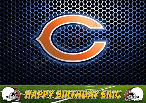 Chicago Bears NFL Edible Cake Topper Personalized Birthday