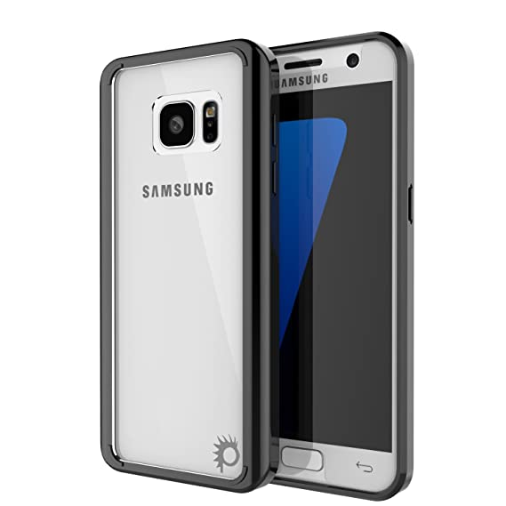 pretty nice 28c79 a55fd Galaxy S7 Edge Case, PUNKcase [Lucid 2.0 Series] [Slim Fit] [Clear Back]  Armor Cover w/Integrated Anti-Shock System & PUNKSHIELD Screen Protector  for ...