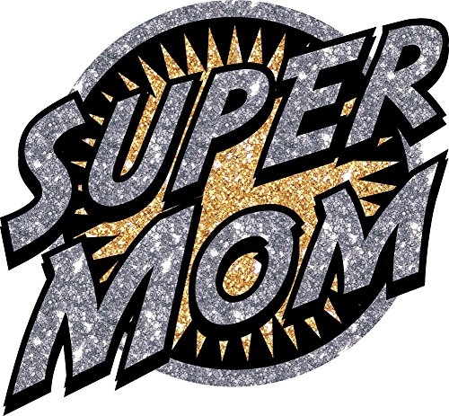 Forum Novelties from the Heat Transfer-Super Mom, Multicolor