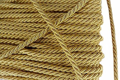 Shiny Twist Cord - Gold Shiny Twist Twine Cord Choker Thread String Rope Piping Supplies Chain 3 Yards