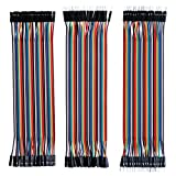 jumper wires bread board - Elegoo EL-CP-004 120pcs Multicolored Dupont Wire 40pin Male to Female, 40pin Male to Male, 40pin Female to Female Breadboard Jumper Wires Ribbon Cables Kit for arduino