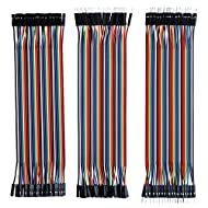 Elegoo 120pcs Multicolored Dupont Wire 40pin Male to Female, 40pin Male to Male, 40pin Female to Female Breadboard Jumper Wires Ribbon Cables Kit for arduino