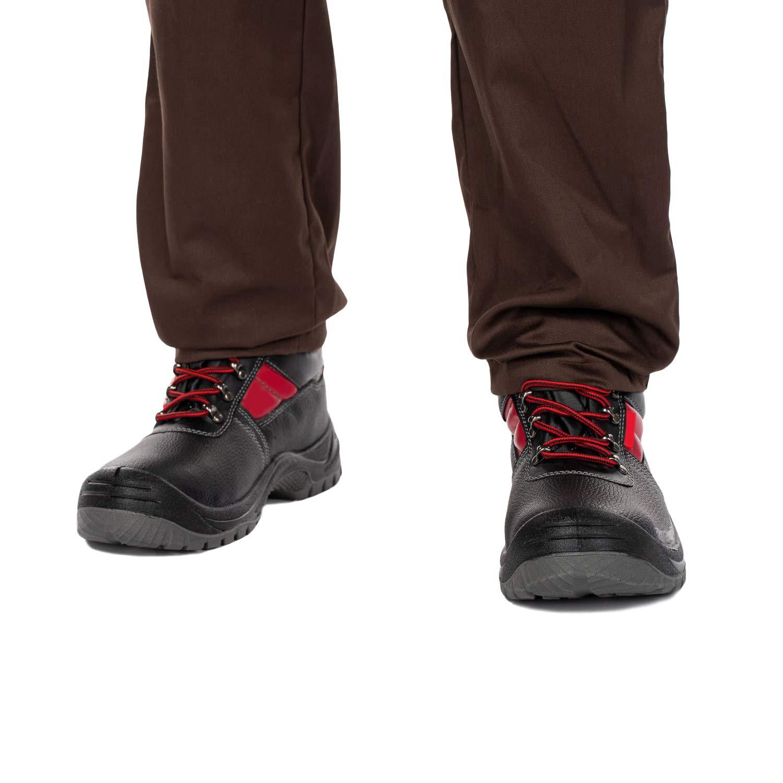 Botte de securite Noir Chaussures de s/écurit/é hommes Cuir de veau bottes de securite Embout en acier /étanche chaussures de travail 38 Antid/érapante Chaussure de securit/é homme S3