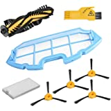 Kit de accesorios de limpieza para robots aspiradores Conga Excellence: 4 cepillos laterales, 1 cepillo central, 1 filtro EPA, 1 filtro malla, 1 cepillo de limpieza