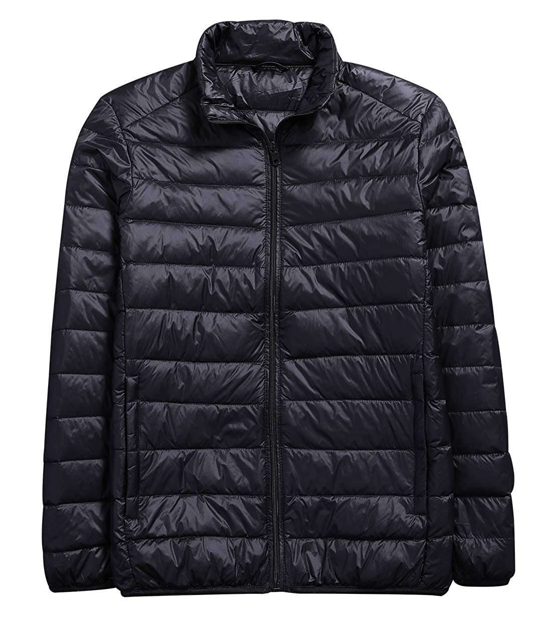 YUNY Men Stand Collar Hood Winter Thick Warm Outerwear Down Jacket 7 L