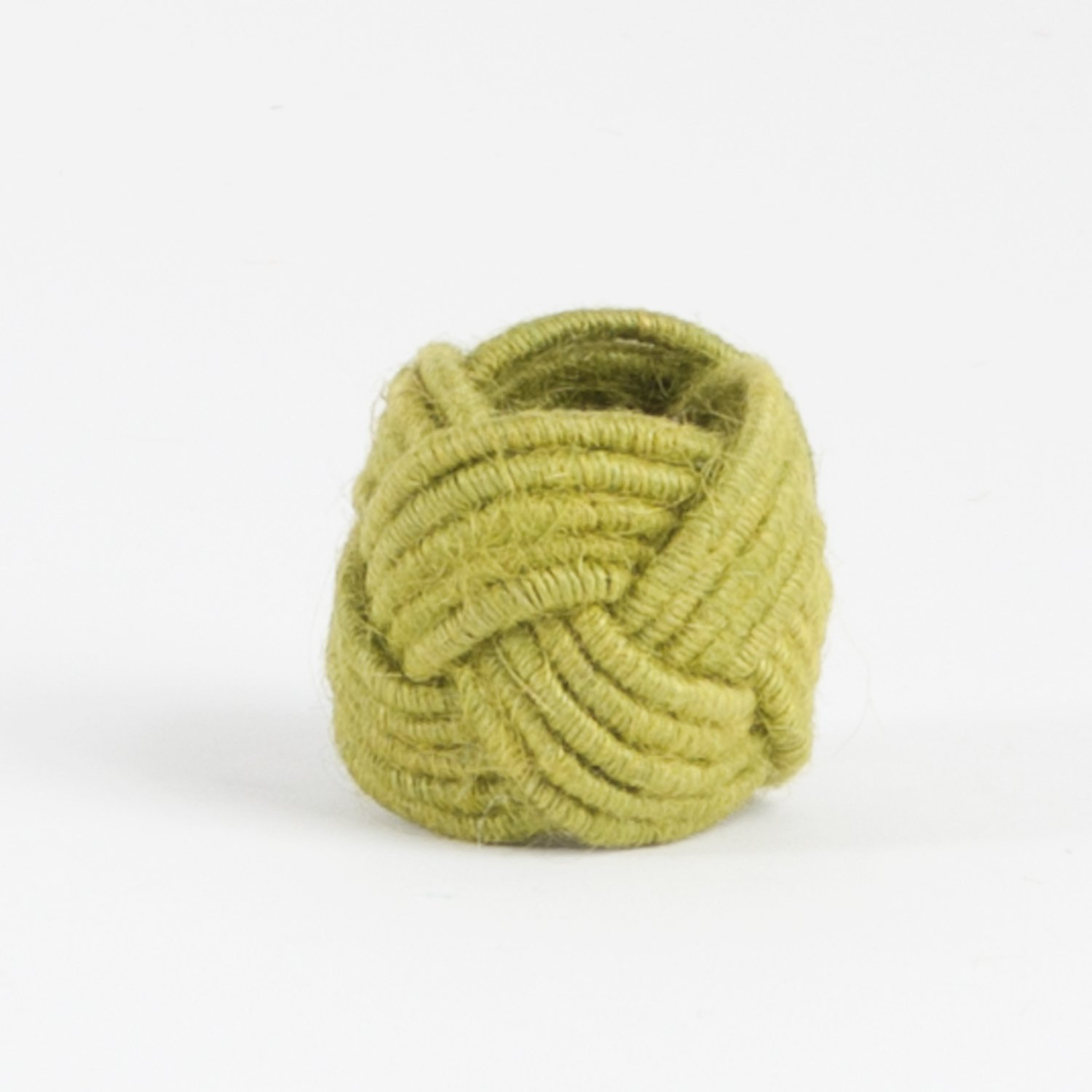 Set of 4 Classic Braided Jute Burlap Napkin Rings (Chartreuse) Fennco Styles COMINHKPR68097