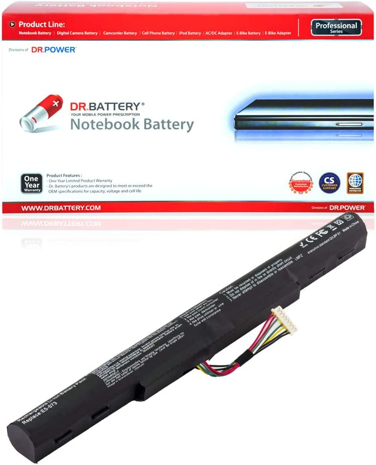 DR. BATTERY AL15A32 Battery Compatible with Acer Aspire E5-573 E5-573G F5-571 F5-571G F5-572 V3-574G TravelMate P277-MG P278-MG KT.00403.025[14.8V/2350mAh/34Wh]