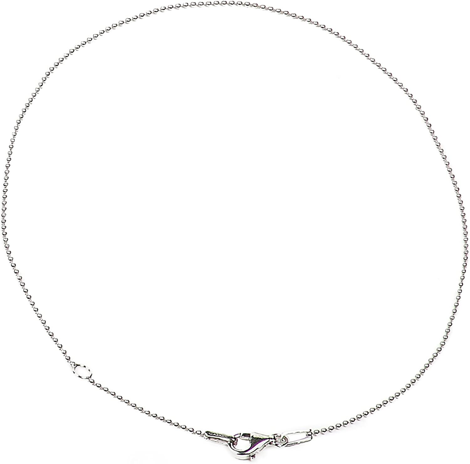 Italian Quality Chain 925 Sterling Silver Chain | Smooth Bead Chain Necklaces for Women or Men and Bracelets for Women or Mens Bracelet | Anti Tarnish