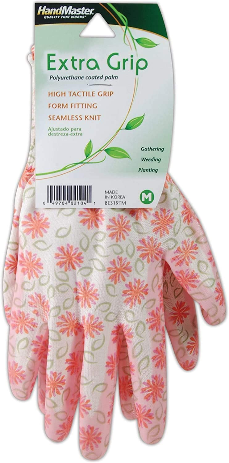 Magid Glove & Safety BE318TL BE318TL-2 Gardening Gloves, 9/L, Pink
