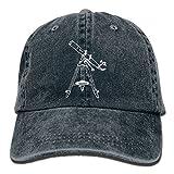 Unisex Baseball Cap Astronomy Telescope Cotton Jean Strapback Cap for Women