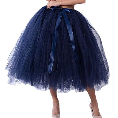 Rcool Falda Corta Faldas Faldas Mujer Invierno Faldas largas Falda Flamenca Mujer,Falda de Tul Tul de Malla Falda de Princesa de Dama de Honor B: Amazon.es: ...