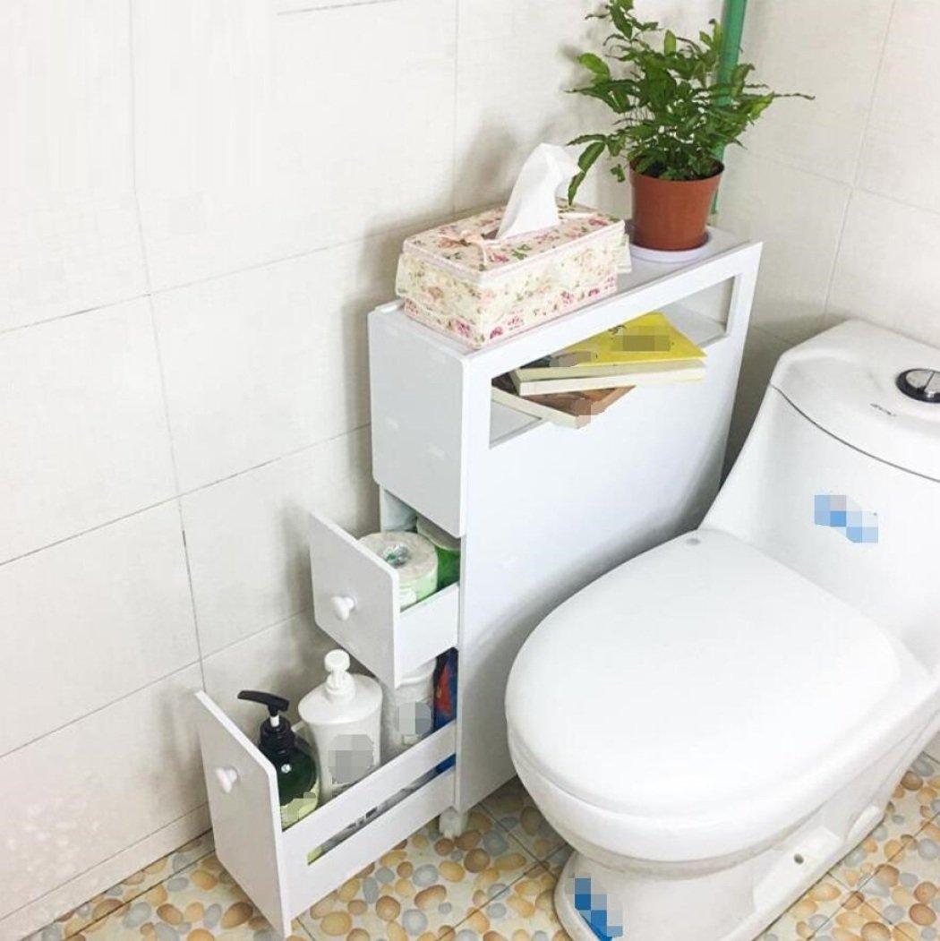 GL&G Bathroom side cabinet waterproof Store objects Cabinets Floor kitchen, Bathroom Furniture Locker narrow slit cabinet,A