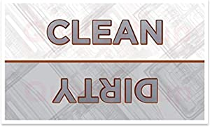 Dishwasher Magnet Clean Dirty Sign - 2 x 3.5 Inch Refrigerator Magnets (30 Mil, Rounded Corners) - Funny Housewarming Gifts - Suitable for All Dishwashers!