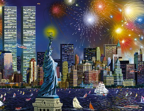 Manhattan Celebration a 1000-Piece Jigsaw Puzzle by Sunsout (Celebration Jigsaw Puzzle)