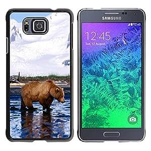 Caucho caso de Shell duro de la cubierta de accesorios de protección BY RAYDREAMMM - Samsung GALAXY ALPHA G850 - Cool Grizzly Bear