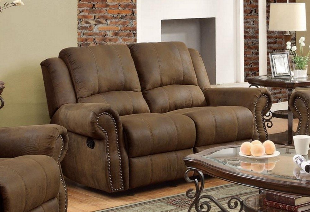 Coaster Home Furnishings 650152 Casual Motion Loveseat, Brown by Coaster Home Furnishings (Image #1)
