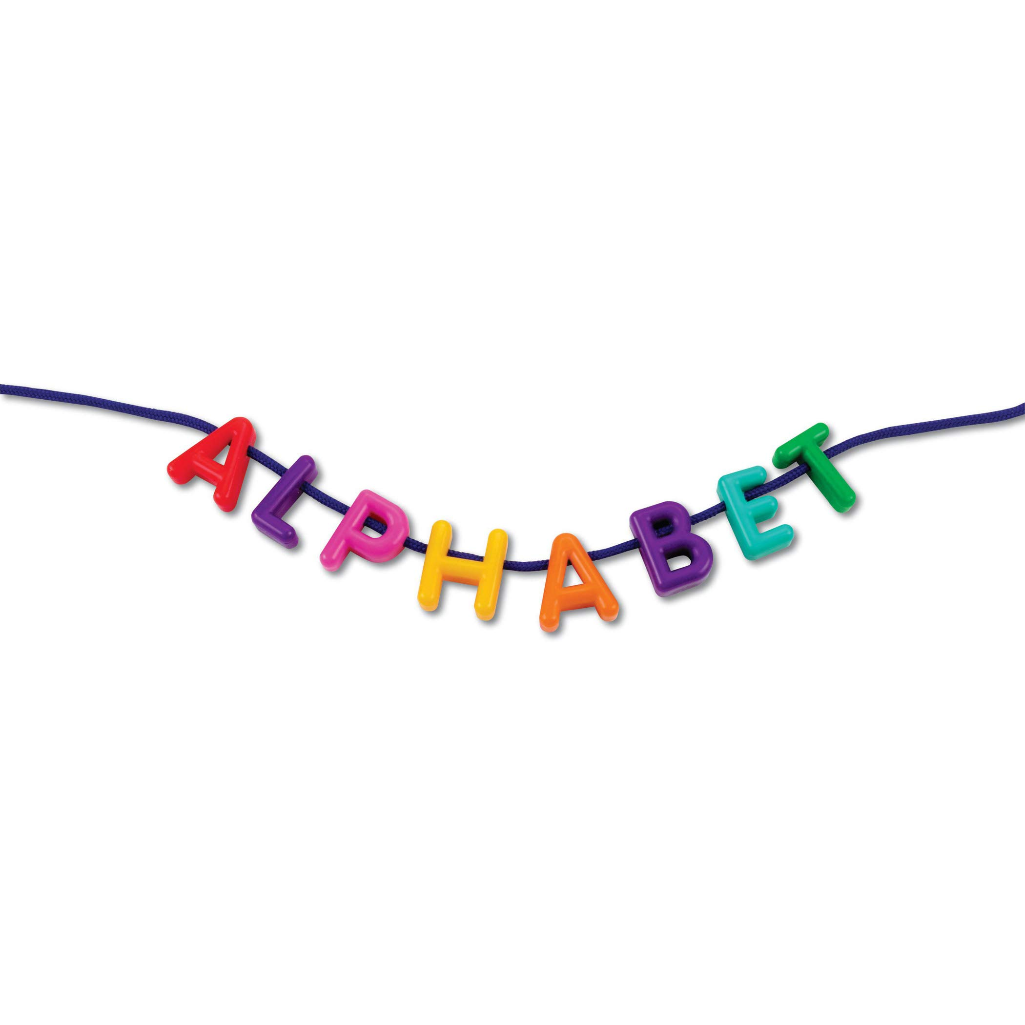 Learning Resources LER6401 Plastic Lacing Uppercase Alphabet, 260 Letters, 15 Laces (Pack of 275)