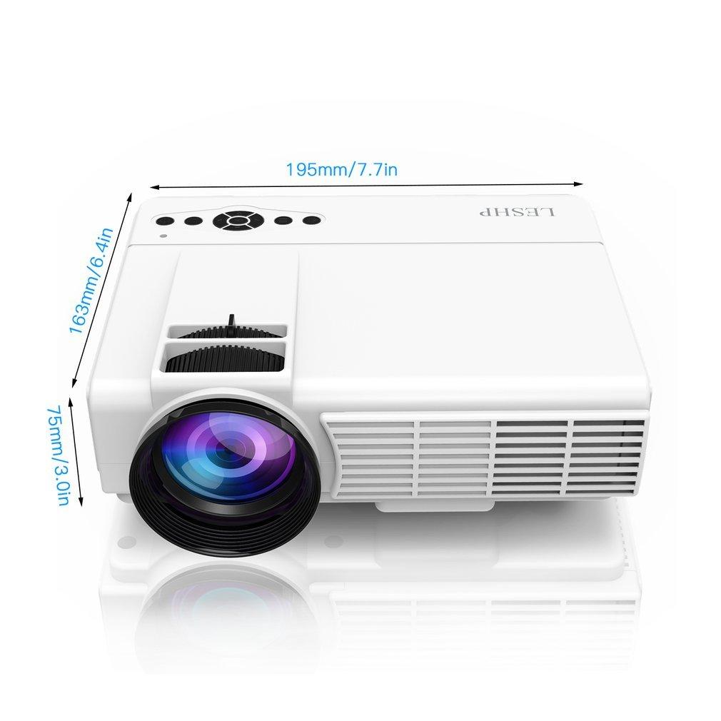 iCoco LESHP - Proyector de vídeo portátil de cristal líquido, Home ...