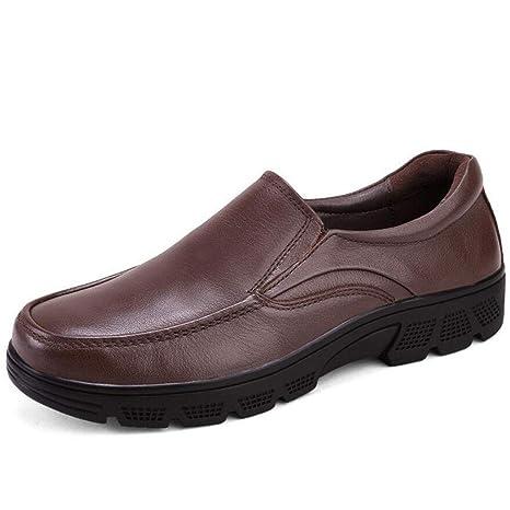 Black//Brown Color : Black, Size : 41 EU zxcvb Mens Leather Oxford Shoes Wedding Shoes Lace up Cap Tuxedo Formal Dress Shoes