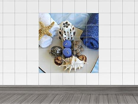 Piastrelle adesivo piastrelle immagine asciugamani stelle marine e