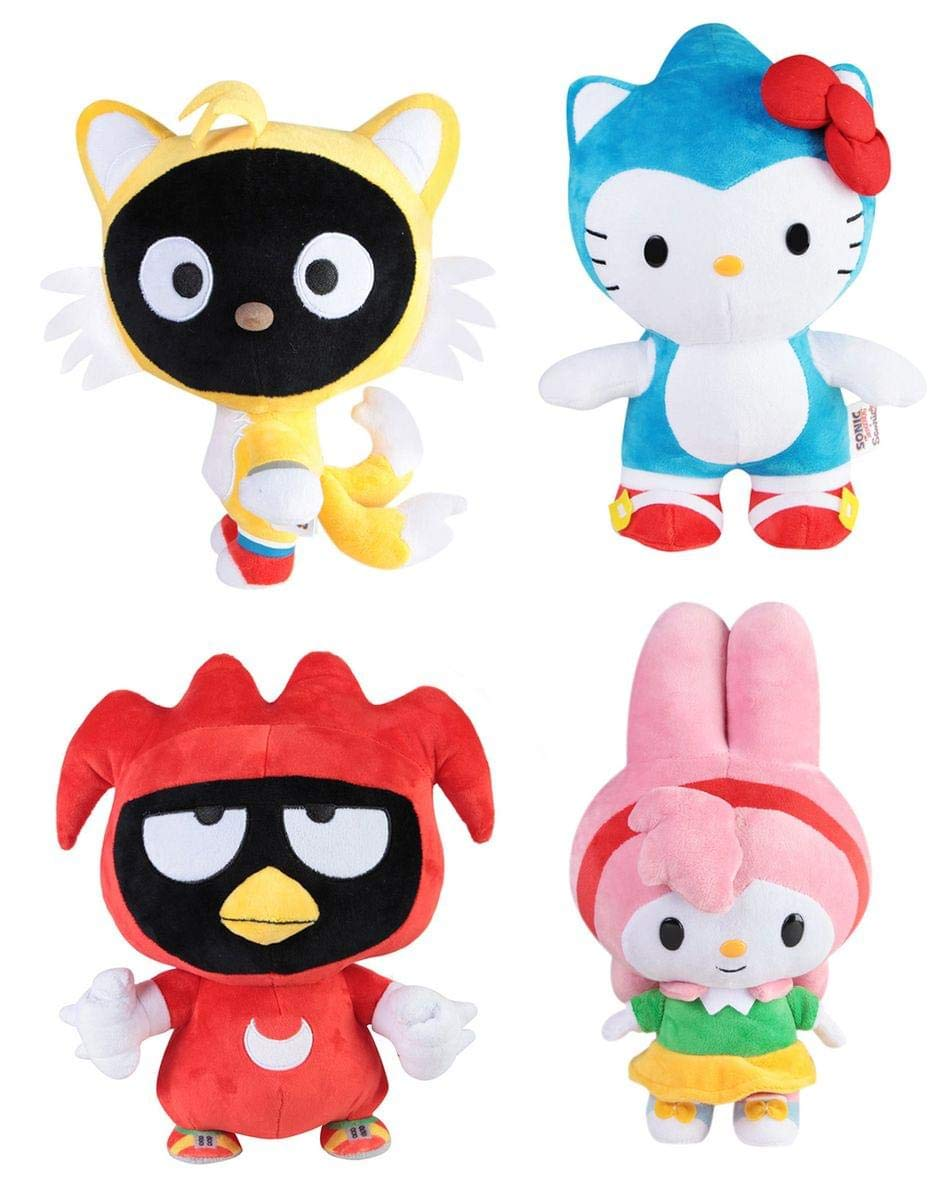 Toynk Sonic x Sanrio 10'' Plush: Sonic The Hedgehog Set of 4 by Toynk
