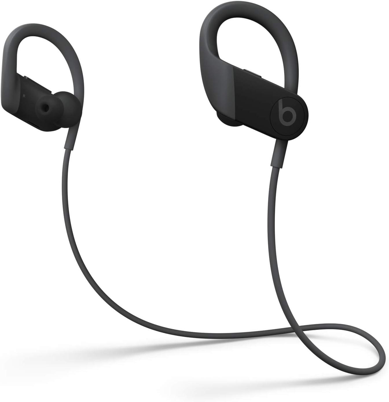 Auriculares Inalámbricos de Alto Rendimiento Powerbeats - Chip H1 de Apple, Bluetooth de Clase 1, 15 Horas de Sonido Ininterrumpido, Tapones Resistentes al Sudor - Negro (Ultimo Modelo)