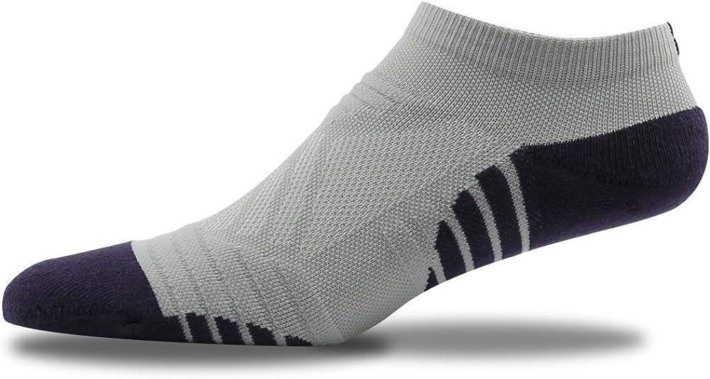 MUSCLE WAY Mens Summer Sport Athletic Low Cut Socks Light Grey Purple 1 Pair Women Socks Grey