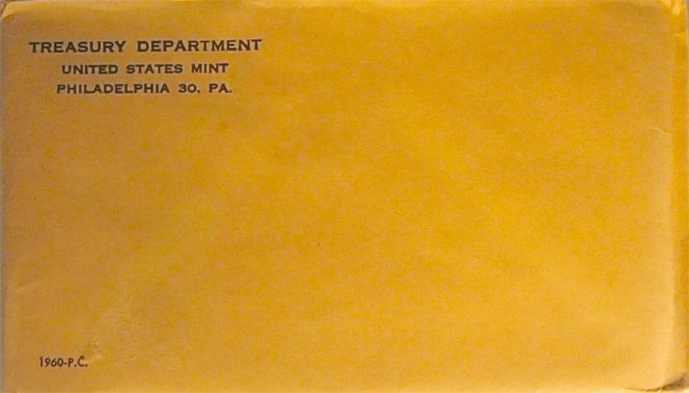 1960 U.S Proof Set in Original Envelope /& Sealed Plastic