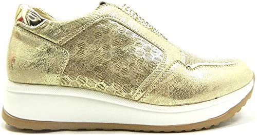 GMV 0041 Scarpe Donna Sneakers Slip On Strass Oro: Amazon.it
