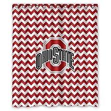 Custom NCAA Ohio State Buckeyes Waterproof Polyester Shower Curtain 60x72