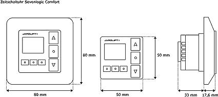2x Sevenlogic Comfort Radio Minuterie TDRRT-01W avec /émetteur radio TDRC 04 JAROLIFT 2x Moteur pour volet roulant SL45 20//15