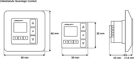 Jarolift TDRRT-01W Sevenlogic Comfort - Módulo de reloj con temporizador para motores de persianas: Amazon.es: Bricolaje y herramientas