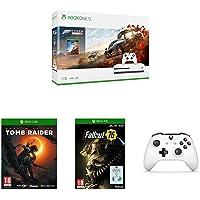 Pack Xbox One S Forza Horizon 4 + Tomb Raider + Fallout 76 + 2ème manette + codes de téléchargement Gears of War 4, Halo 5, Rare Replay et PUBG