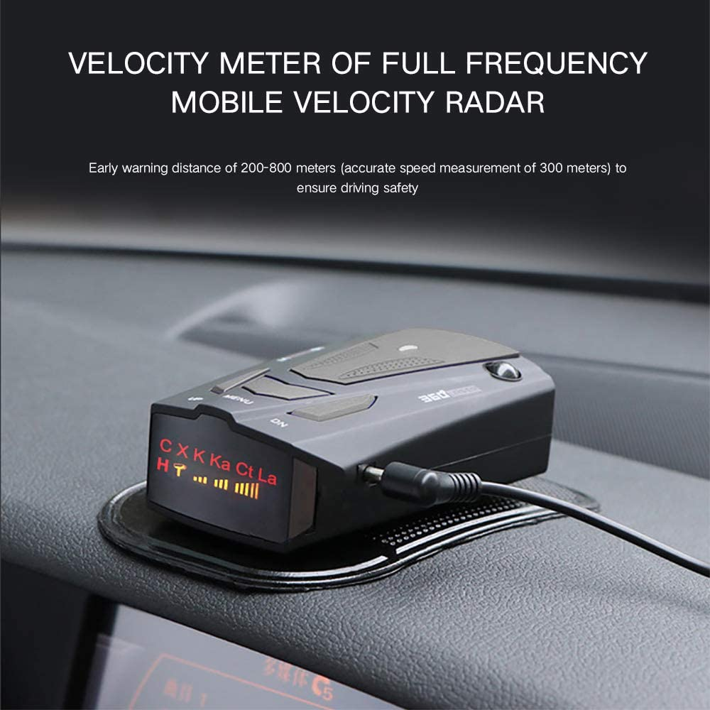 Fcc Laser Radar Detector with Voice Prompt Speed City//Highway Mode Led Display Car 360 Degree Automatic Detection for Cars Snnetwork Radar Detectors for Cars Vehicle Speed Alarm System