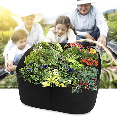 Xnferty Fabric Raised Garden Bed, 2x2 Feet Square Breathable Planting Container Grow Bag Planter Pot for Plants, Flowers, Vegetables (Black) by Xnferty (Image #4)