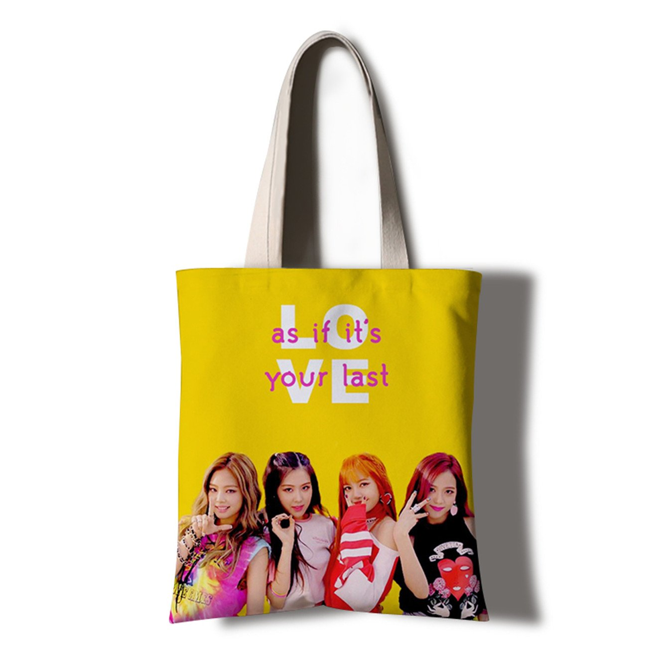 JUSTGOGO KPOP BLACKPINK Casual Messenger Bag Cross-body Bag Shoulder Bag Travel Bag Handbag Tote Bag