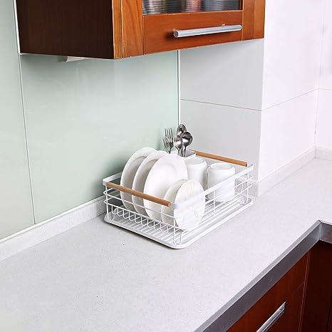 Attom Tech Home - Escurreplatos con mango de madera y tabla de ...