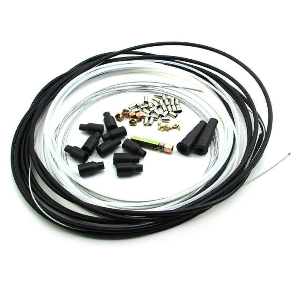 STONEDER 5 Metres Diy Throttle Cable Kit Nipples Ferrules