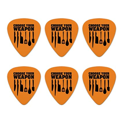 Set of 6 Choose Your Weapon Chess Pawn Rook King Novelty Guitar Picks Medium