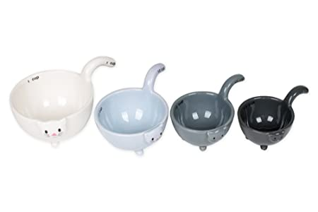 Up To 45% Off Ceramic Cat Measuring Cups/ Baking Bowls