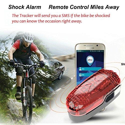 TKSTAR Bike GPS Tracker Alarm with LED Tail Light Waterproof Worldwide Realtime GPS Locator Mini Smart LED light Hidden Motor Bicycle GPS Tracking Device 25 Days Long Battery Life FREE APP by TKSTAR (Image #3)