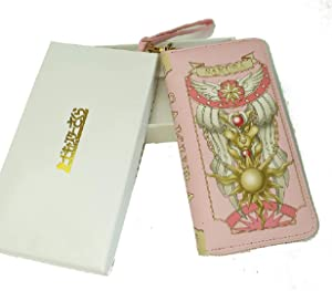 Ruotong Cardcaptor Sakura Pink Wallet Handbag Pink (Quality Leather with Gift Box)